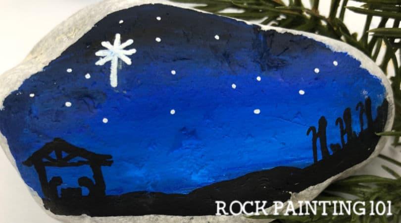 How to paint a nativity scene onto rocks