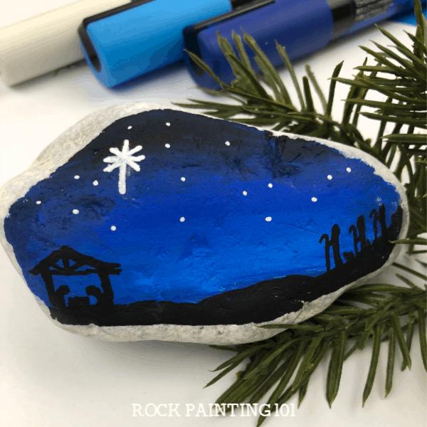 36 Wonderful Christmas Painted Rocks You Ll Love To Make