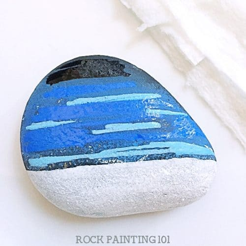 How To Make This Beautiful Winter Scene Rock Painting Idea