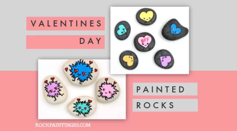 11 Valentine's Day rock painting ideas