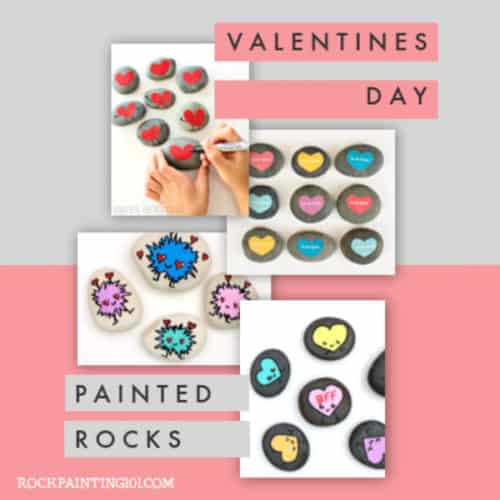 Show your love with these Valentine's Day painted rocks. They make great gifts and are guaranteed to bring a smile to your favorite people. #rockpainting101