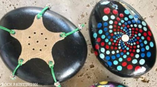 Use this Pip rock painting guide to create mandala rocks