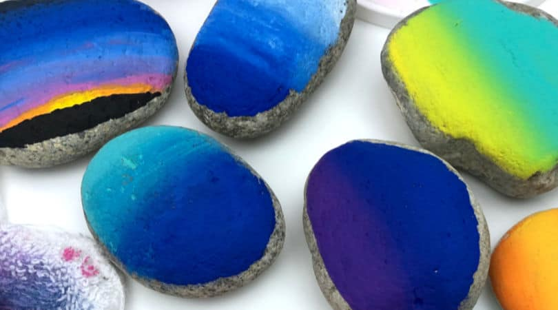 How to master blending paints on rocks