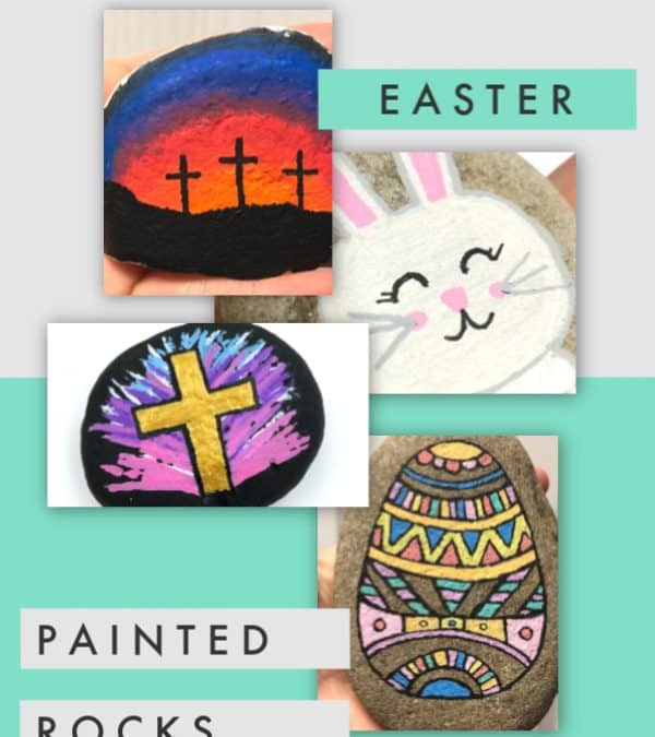 7 easy Easter painted rocks for all skill levels