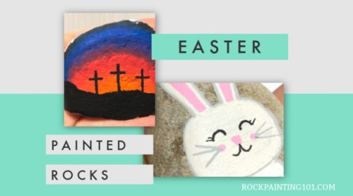 Get inspired by these amazing Easter painted rocks. Find an Easter craft tutorial that's perfect for you! Maybe even host an Easter Rock Hunt! #rockpainting101