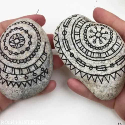 Learn to paint mandalas on rocks using this hack for beginners.
