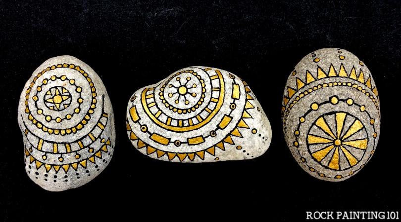 Easy Mandala Art for Rocks