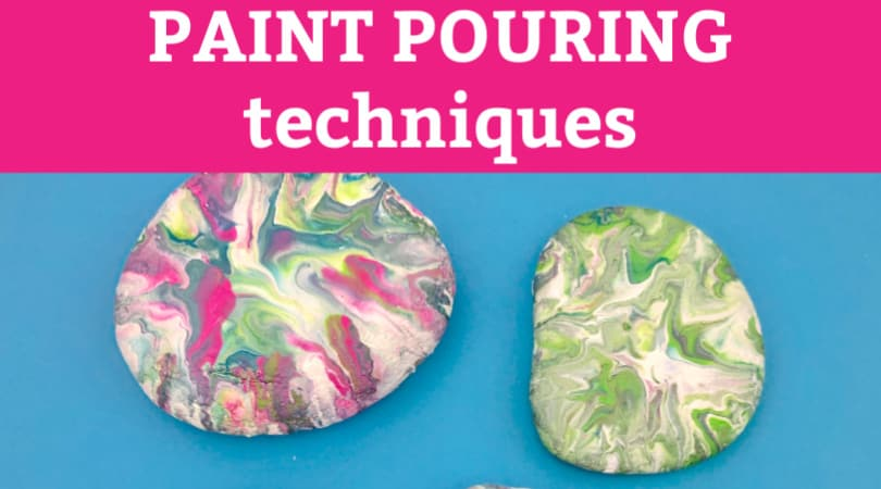 Pour painting techniques that create beautiful painted rocks