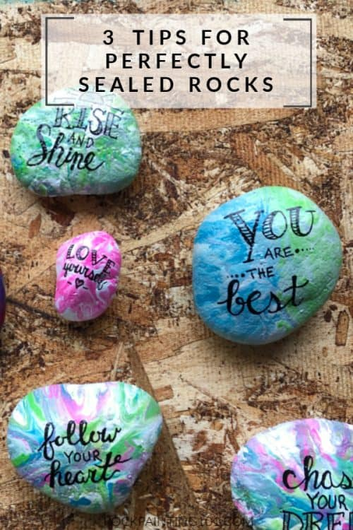 3 tips for perfectly sealed rocks #rockpainting101