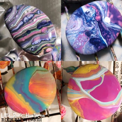 Getting the right pour painting recipe is essential to mastering this fun and unique rock painting technique. #rockpainting101