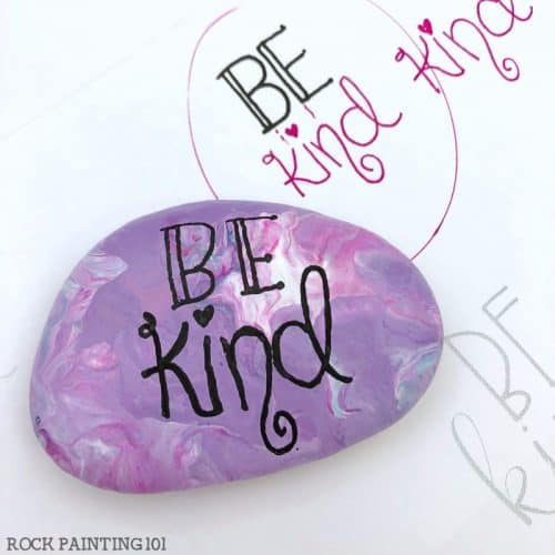 Hand Lettering Kindness rocks for Beginners