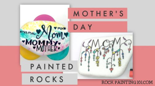 Get inspired by these fun Mother's day rock painting ideas. These mother's day crafts are the perfect gift for mom! #rockpainting101