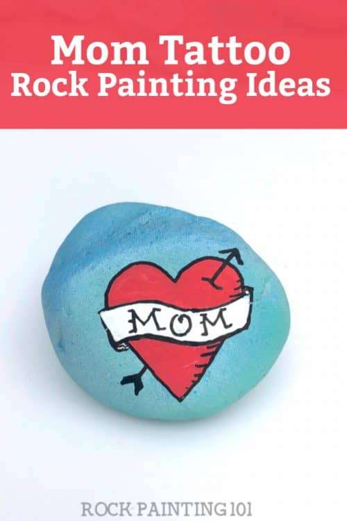 Create this Mom Tattoo design on a rock form Mother's Day!