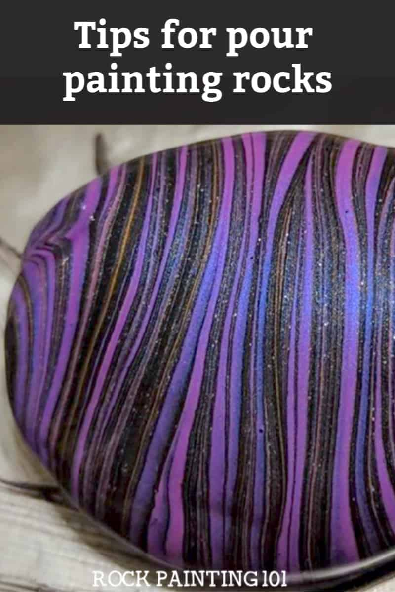 Create beautiful pour painted rocks using these tips for beginners.