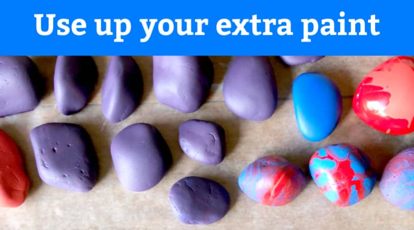How to effectively use up your extra acrylic paint when rock painting