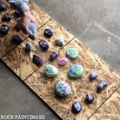 Learn how to seal painted rocks with these simple techniques. There are a lot of different variables that go into properly sealing your painted rocks. These tips and step by step instructions will break it down so you can paint rocks for outdoors. #rockpainting101