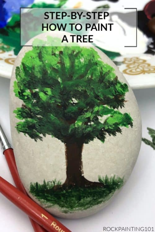 How to paint an oak tree. This painting tutorial for beginners is how to paint a basic tree form.