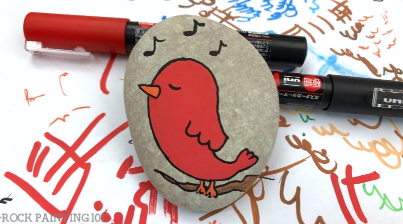 How to paint a bird for rock painting and other projects
