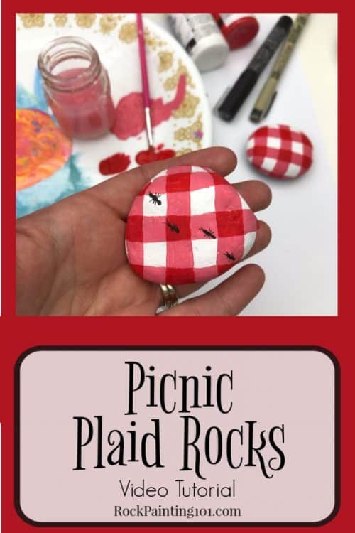 How to paint picnic blanket check. This red and white checker design is fun to paint on anything!