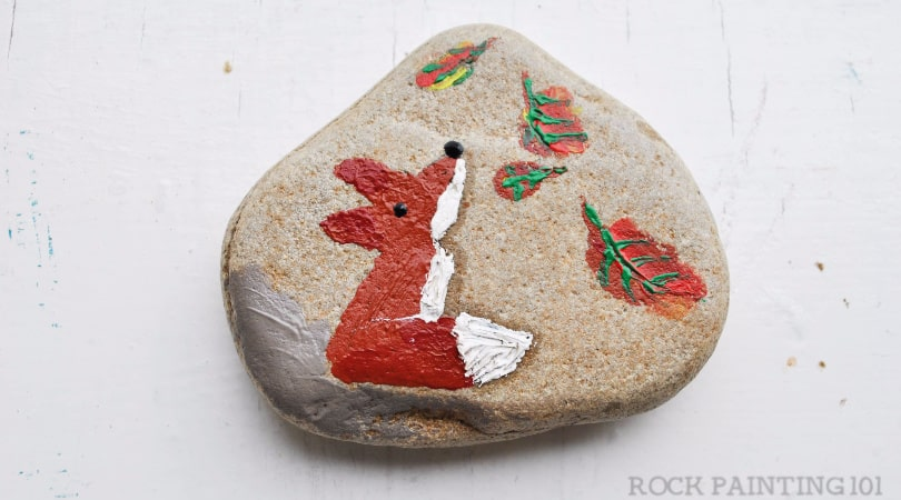 Finger Painted Rock Designs