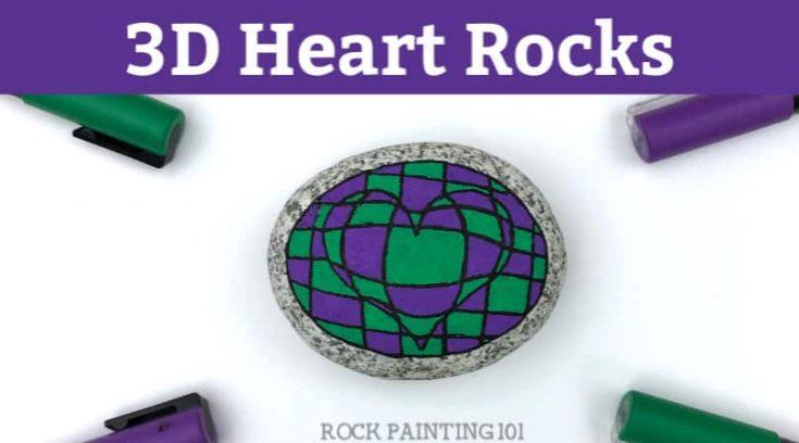 3D Heart Rock