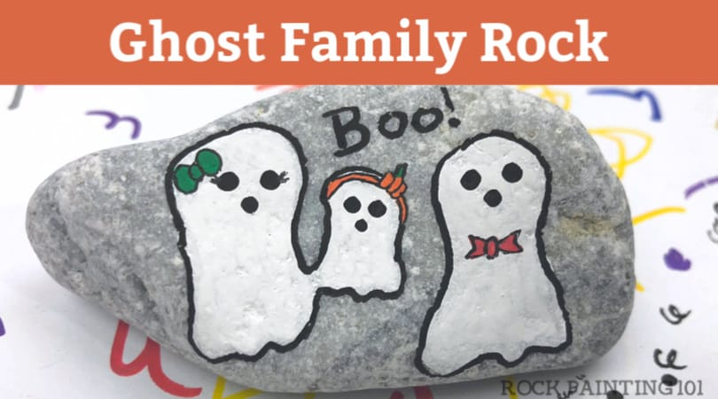 How to make a fun ghost rock painting family