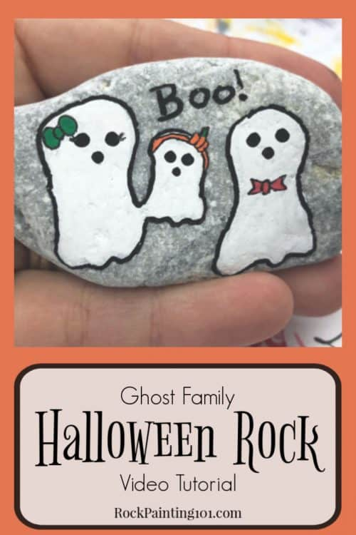 Ghost Halloween Rocks