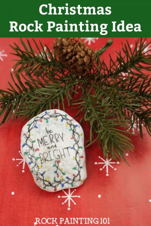 Christmas Rock Painting Idea