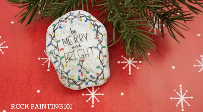How to paint Christmas Lights onto rocks