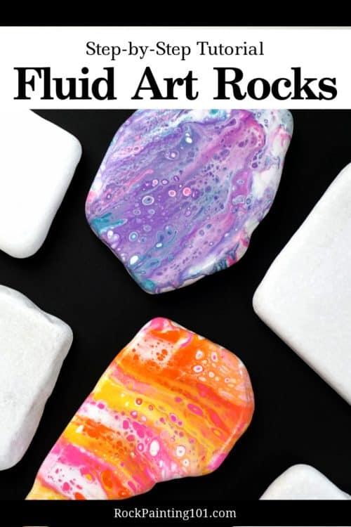 fluid art rocks #rockpainting101