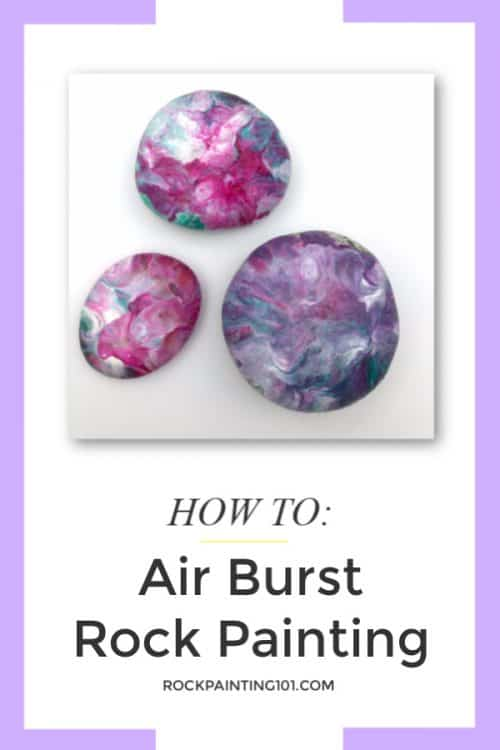 air burst rock painting tutorial