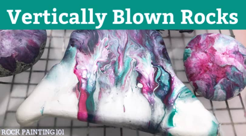 Vertical blow painting with straws
