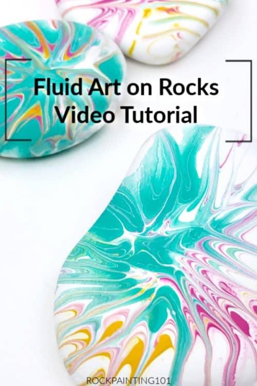 Fluid Art rock painting tutorial