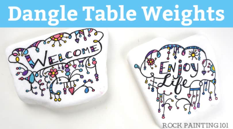 Easy Rock Tablecloth Weights DIY