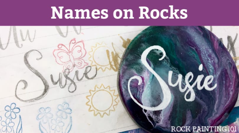 Tips for hand lettering names onto rocks