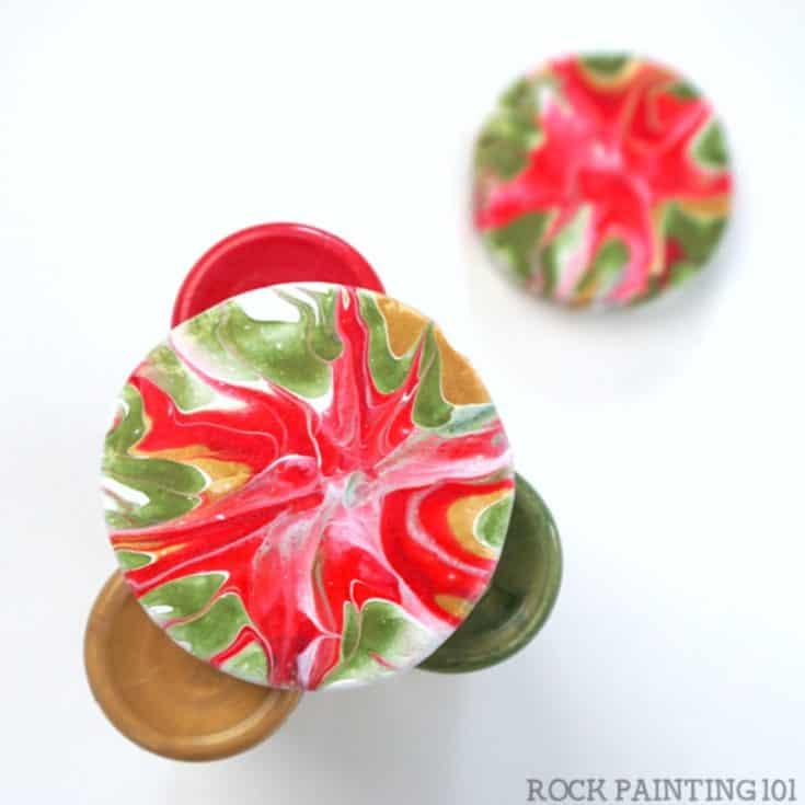 Fluid Art Poinsettias