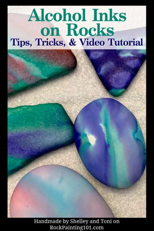 Using alcohol inks on rocks. Learn to blend alcohol inks for beautiful rock painting designs.