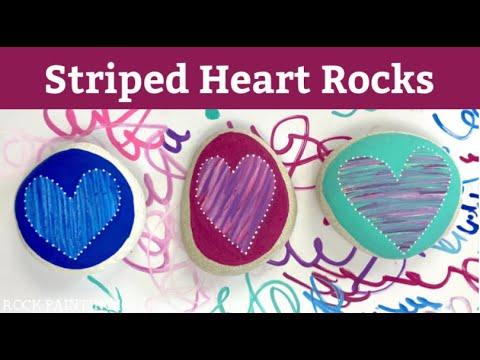 Paint Pen Striped Hearts