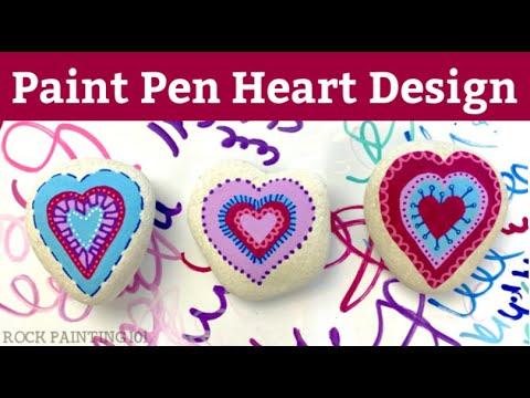 Paint Pen Heart Design for Beginners