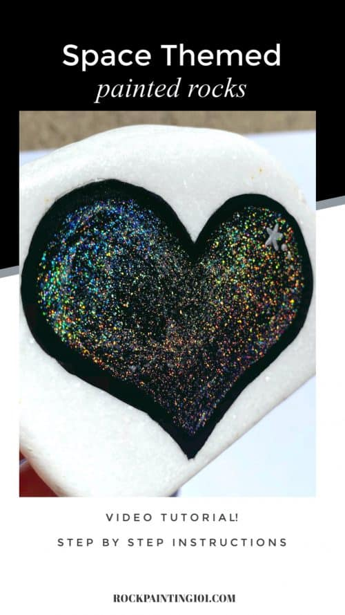 Learn how to make space rocks using this jaw-dropping holographic acrylic paint. This step by step tutorial will give you an amazing rock that even a beginner can pull off with ease. #rockpainting101 #galaxy #paintedrocks