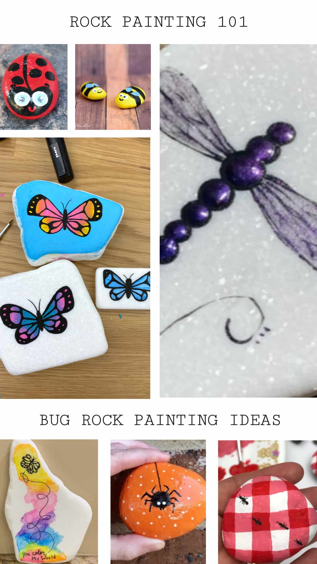 10 Butterflies And Bugs Rock Painting Ideas You Ll Love Rock Painting 101