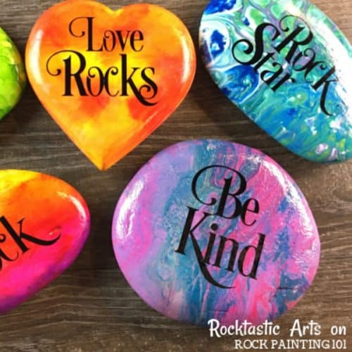 How to use vinyl decals for rock painting designs. Adding Lettering to Rocks for beginners