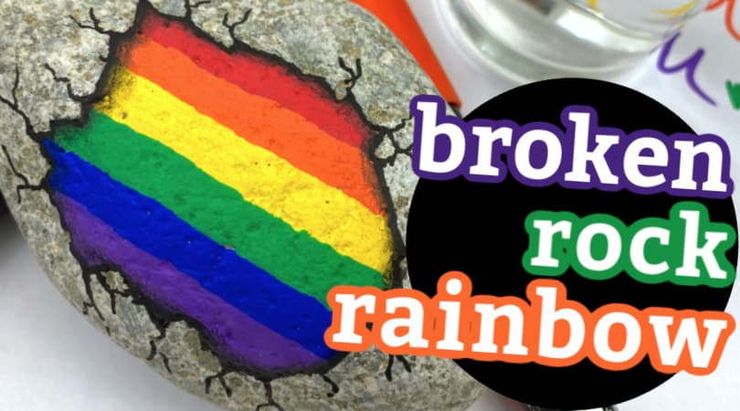 How to paint a broken rock rainbow