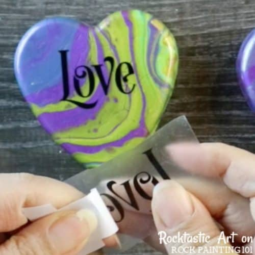 How to apply vinyl lettering decals for crafts