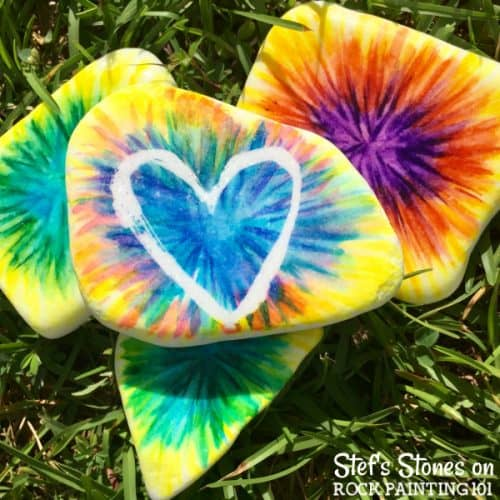 How to paint tie dye with alcohol inks on stones