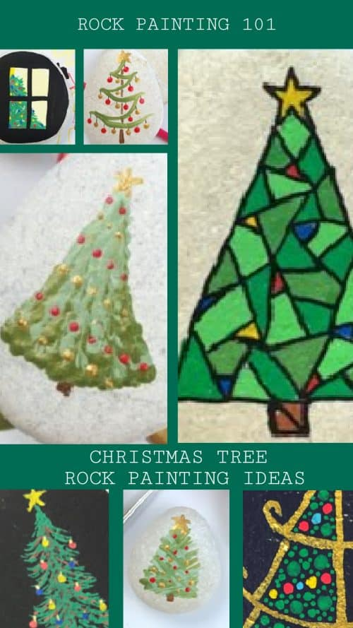 These Christmas trees painted on rocsare perfect for your Christmas crafting. Use them to decorate your holiday table, use them as stocking stuffers, or hide around the city.