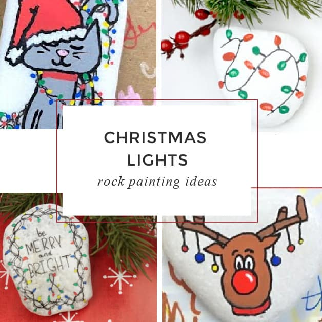 9 easy ideas for Christmas lights painted on rocks