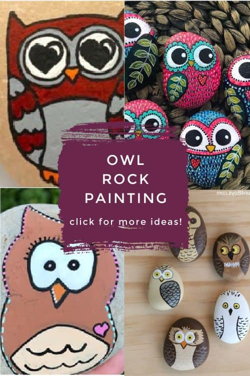 These owl rock painting ideas are great for all skill levels, including the beginner. Several of these painted rocks have step by step instructions. Others are just for inspiration.