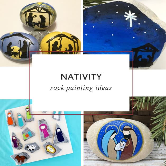 15 Nativity painted rocks: Easy rock painting ideas.