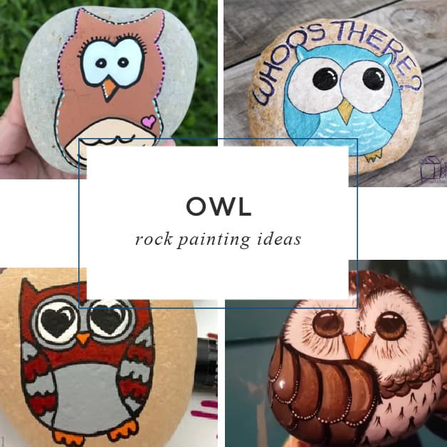 14 easy Owl Rock Painting Ideas